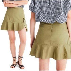 Madewell  Asymmetrical Flounce Skirt